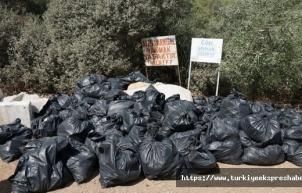 Ünlülerin vazgeçilmez Cennet Koyu'nda '85 çuval' çöp çıktı